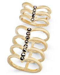 INC International Concepts | Metallic Gold-tone 2-pc. Set Stone Multi-row Rings, Only At Macy's | Lyst