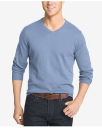 Izod | Blue Men's Big And Tall V-neck Sweater for Men | Lyst