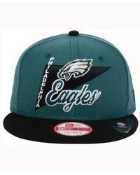 KTZ - Green Philadelphia Eagles Logo Stacker 9fifty Snapback Cap for Men - Lyst