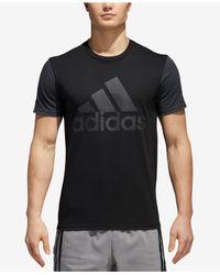 Adidas - Black Colorblocked Logo T-shirt for Men - Lyst