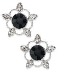Vera Bradley | Metallic Silver-tone Crystal Bouquet Stud Earrings | Lyst