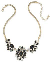 Vera Bradley | Metallic Gold-tone Crystal Glitz Statement Necklace | Lyst