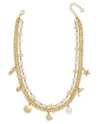 Charter Club | Metallic Gold-tone Sea Charm Multi-strand Necklace | Lyst