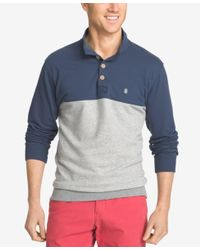 Izod | Blue Men's Big And Tall Jefferson Colorblocked Henley for Men | Lyst