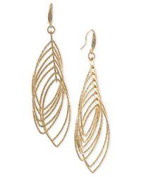 ABS By Allen Schwartz | Metallic Multi Ring Gypsy Drop Earrings | Lyst