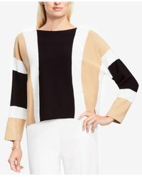 Vince Camuto | Black Colorblocked Dolman-sleeve Sweater | Lyst