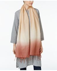 Eileen Fisher | Multicolor Wool-blend Fringe-trim Scarf | Lyst
