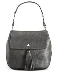 Calvin Klein - Black Tassel Pebble Hobo - Lyst