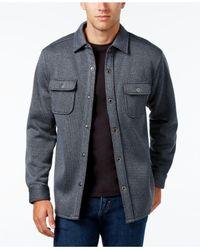 Tommy Bahama | Blue Men's Fireside Textured Shirt-jacket for Men | Lyst