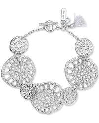 Lonna & Lilly - Metallic Silver-tone Openwork Large Disc Link Bracelet - Lyst