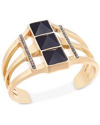 INC International Concepts | Multicolor Gold-tone Triple-stone Cuff Bracelet | Lyst