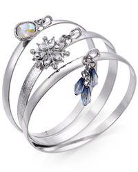 INC International Concepts | Metallic 3-pc. Crystal Silver-tone Bangle Bracelet Set | Lyst