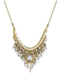 INC International Concepts | Metallic Snow Queen Gold-tone Crystal Bib Necklace | Lyst