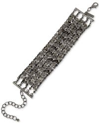 INC International Concepts | Gray Hematite-tone Chain Link Bracelet | Lyst