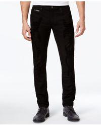 INC International Concepts   Black Men's Faux-leather Trim Skinny Jeans for Men   Lyst