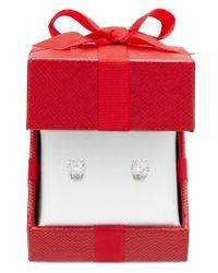 Macy's | Metallic Certified Diamond Stud Earrings In 14k Gold Or White Gold (2 Ct. T.w.) | Lyst