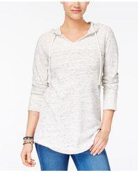 Style & Co. - White Shirttail-hem Hoodie - Lyst