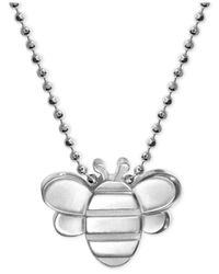 Alex Woo | Metallic Bumble Bee Pendant Necklace In Sterling Silver | Lyst