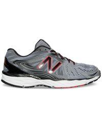 New Balance - Black Men's 680v4 Running Sneakers From Finish Line for Men - Lyst