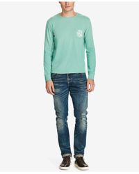 Polo Ralph Lauren - Green Long-sleeve Pima Cotton Tee for Men - Lyst