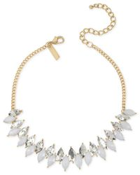 INC International Concepts | Gold-tone White And Metallic Marquise Stone Choker Necklace | Lyst