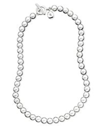 "Lauren by Ralph Lauren | Gray 16"" Silver-tone Metal Bead (8 Mm) Necklace 