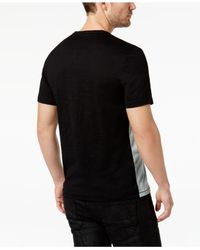 INC International Concepts - Black Men's Split-neck Colorblocked T-shirt for Men - Lyst