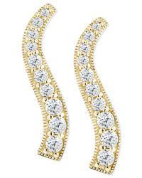 Giani Bernini | Metallic Cubic Zirconia Graduated Curve Drop Earrings In 18k Gold-plated Sterling Silver | Lyst