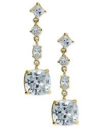 Giani Bernini   Metallic Multi-crystal Linear Drop Earrings In 18k Gold-plated Sterling Silver   Lyst