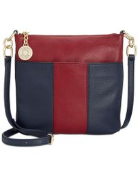 Tommy Hilfiger | Multicolor Th Signature Pebble Leather Crossbody | Lyst