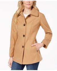 London Fog - Natural Single-breasted Peacoat - Lyst