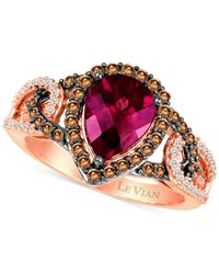 Le Vian | Pink Rhodolite Garnet (1-1/2 Ct. T.w.) And Diamond (1/2 Ct. T.w.) Ring In 14k Rose Gold | Lyst