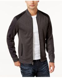 INC International Concepts | Gray Men's Colorblocked Knit Jacket for Men | Lyst