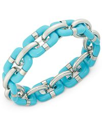 Charter Club | Blue Resin Link Bracelet | Lyst