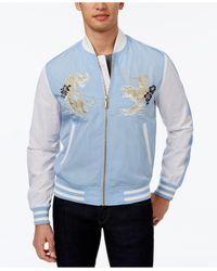 Sean John | Blue Men's Bomber Jacket for Men | Lyst