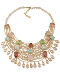 Carolee - Metallic Cosmopolitan Club Statement Necklace - Lyst