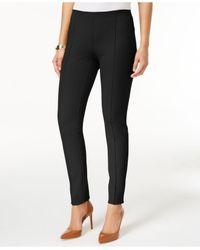 Alfani - Black Seamed Skinny Pants - Lyst