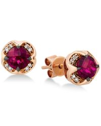 Le Vian | Multicolor Rhodolite Garnet (1-1/3 Ct. T.w.) And Diamond Accent Stud Earrings In 14k Rose Gold | Lyst