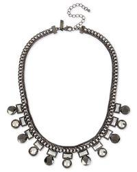 INC International Concepts | Gray Hematite-tone Geometric Stone Collar Necklace | Lyst