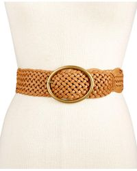 INC International Concepts | Metallic Woven Belt | Lyst