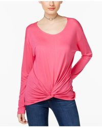 INC International Concepts | Pink Knotted Top | Lyst