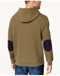 Sean John - Multicolor Men's Textured Elbow-patch Hoodie for Men - Lyst