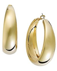 INC International Concepts - Metallic Gold-tone Wide Hoop Earrings - Lyst