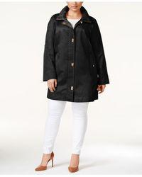 Jones New York | Black Plus Size Turn-lock Coat | Lyst