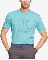 Izod   Blue Men's Graphic Print T-shirt for Men   Lyst