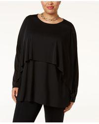 Alfani | Black Plus Size Layered Top | Lyst