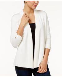Charter Club | White Petite Open-front Cardigan | Lyst