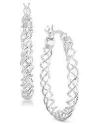 Giani Bernini | Metallic Sterling Silver Spiral Hoop Earrings | Lyst