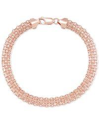 Macy's | Metallic Polished Bismark Link Bracelet In 14k Rose Gold | Lyst