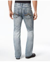 INC International Concepts | Blue Men's Modern Boot-cut Faded Jeans for Men | Lyst